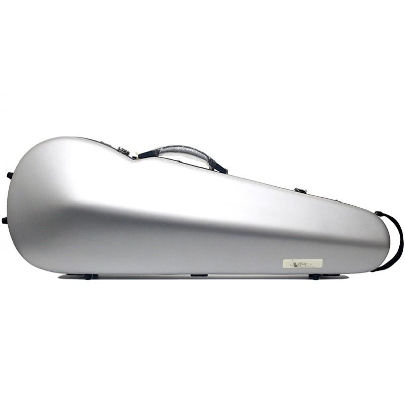 中提碳纖霧面銀琴盒